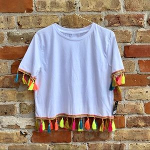 Neon T Shirt with Tassels